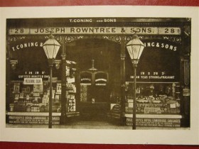 The original Rowntree shop at 28 Pavement, York.