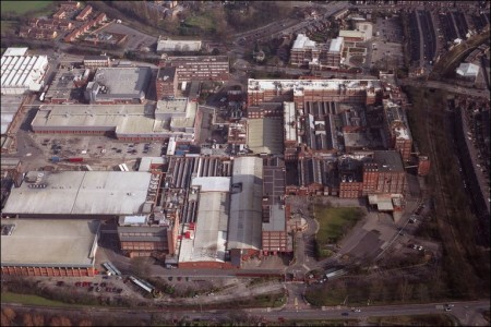 The former Rowntree factory (now owned by Nestle) before a large part of it was demolished to make way for modern buildings. (photo credit: https://news.bbc.co.uk)