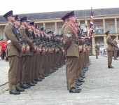 Nick Davis - The Dukes in the Piece Hall Halifax today