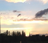 A dramatic skyline looking towards Leeds from Methley tonight.