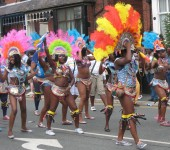 The local West Indian community really go all out to put a show on for carnical day. Some performers are known to begin preparing elaborate costumes a year in advance.