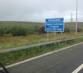 Neil Bugge - Highest motorway in England ...... Yep it's in Yorkshire.