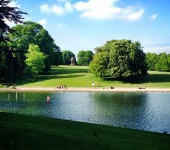 Roundhay Park is very popular and busy all year round come rain or shine. Photo sent in by Richard Newies