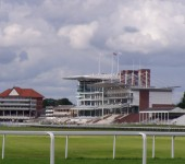 The Ebor Stand at York Racecourse. Named after the shortened form of Eboracum, the Roman name for York