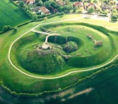 The remains of the impressive Sandal Castle on the outskirts of Wakefield.