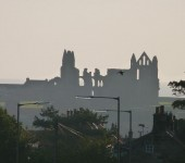 The ruins of the anciany Abbey at Whitby dominate the skyline. (Photo sdent in by Annie mitch)