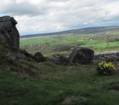 The Cow and Calf rocks looking over Ilkley (sent in by Brian Harvey Dickinson)