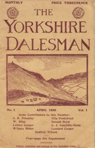 Yorkshire Dalesman's First Printed issue Front.