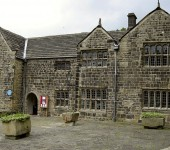 The frontage of the Manor House Musuem, housed in one of Ilkley's oldest buildings.