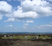 The ancient Twelve Apostles stone circle on Ilkley moor. A sign of early life in the area.