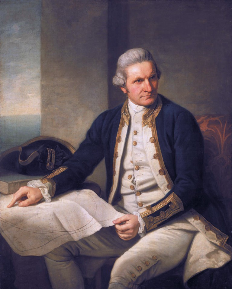 an overview of the 1770 battle between james cooks troops and the britons