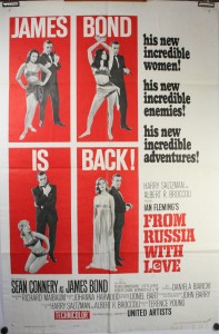James Bond poster showcasing JOHN BARRY as Music Composer and Conductor