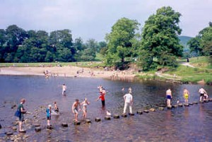 The stepping stones at Bolton Abbey.