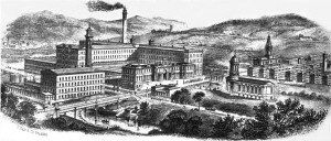 Saltaire 1850. Heritage site and residential area, Bradford.