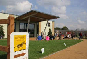 The entrance / visitors centre at Yorkshire Wildlife park. (photo credit)