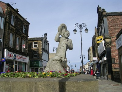 A commemoration to Ernie Wise in his birthplace of Morley. Picture: Betty Longbottom wikipedia creative commons