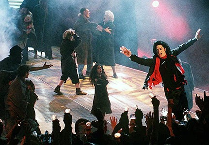 "At the 1996 music awards Jarvis Cocker walked on stage to protect Michael Jackson's ""Earth Song""."