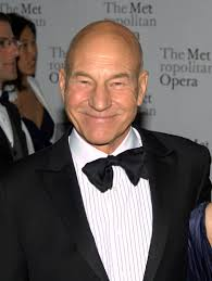 Sir Patrick Stewart at the Metropolitan Opera's opening night of Das Rheingold in 2010