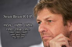 Sean Bean has become famous for his on screen deaths, racking up over 20 in his career.