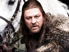 Sean Bean as Lord Eddard Stark in Game of Thrones season 1.