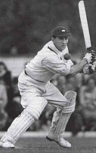 Cricket Legend Len Hutton Batting for the Yorkshire team.