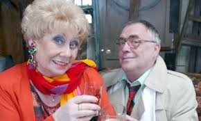 Liz dawn with her on screen husband Bill Terry, together making Coronation streets MR & Mrs Duckworth.