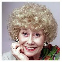 """A young Liz Dawn, also known as """"Vera Duckworth"""", her famed Coronation Street character."""