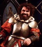 Brian Blessed in Black adder, starring as fictitious King Richard IV, alongside Rowan Atkinson.