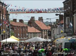 Giant Bradley Day, a day commemorating Bradley, filled with events and small fair rides.