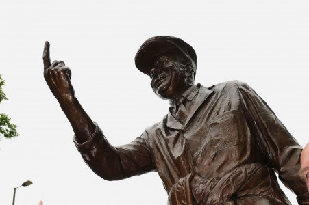 The Dickie BIrd statue erected in Barnsley in 2009.