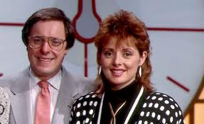 Richard Whiteley and Carol Vorderman.