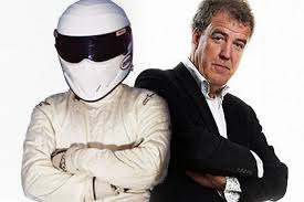 Jeremy Clarkson and the mysterious Stig.