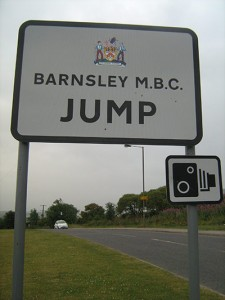 An unusual place name in Yorkshire, Jump.