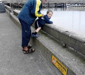 Dona marie seagrave my hubby and son on bridlington harbour