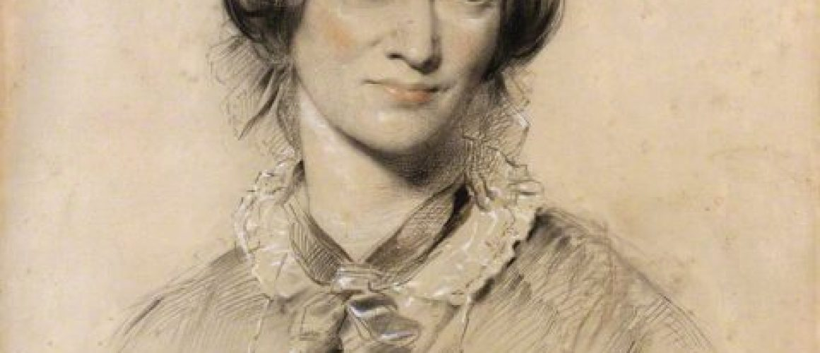 A chalk portrait of Charlotte Bronte created by George Richmond in 1850.