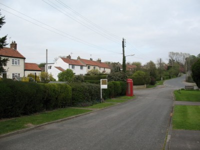 The village street of Thornton le Beans.