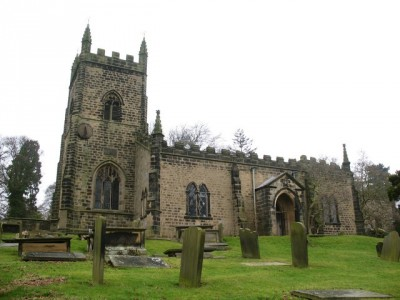 All Saints Church is an important part of the village name. Picture credit: Gordon Hatton wikipedia creative commons.