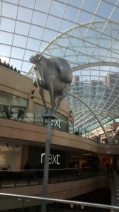 The iconic pack horse at the top of Leeds Trinity shopping centre. Picture credit: Jonathan Rudd
