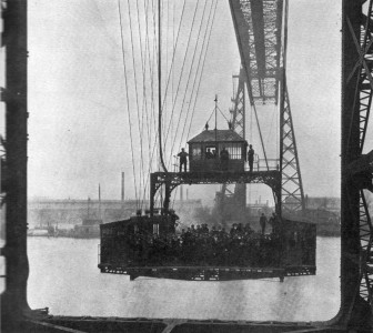 The Middlesbrough transporter gondola in 1931. Picture credit. Wikipedia public domain.