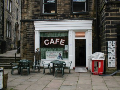 Foggy, Compo and Clegg would often annoy Nora Batty at this cafe' in Holmfirth. PIcture credit: