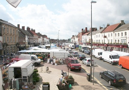 Northallerton has built itself around its market. Picture credit: Bob Embleton geograph wikipedia creative commons.