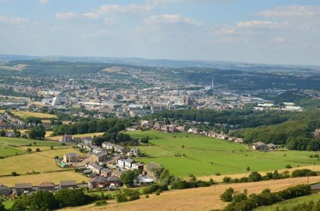 Huddersfield as seen from Castle Hill. Picture creit: Bob Haigh.