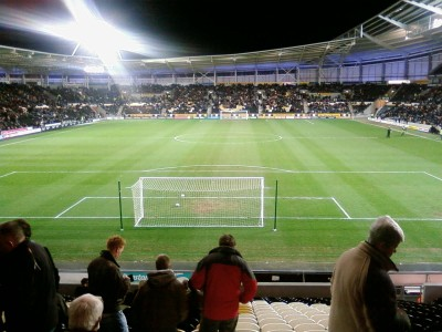 The KC Stadium is home to both Hull City and Hull FC PIcture credit: Big Dom wikipedia Public domain.