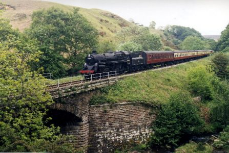 Image of a train in action at the North Yorkshire Moors Railway, Photo Credit Andy Beecfroft, Creative Commons