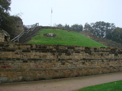 Pontefract Castle. Photo credit Bill Henderson, Geograph, Creative Commons