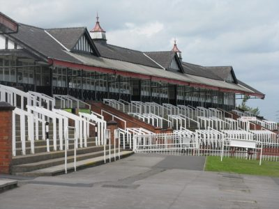 The grandstand at Pontefract racecourse. Picture credit: Dave Pickersgill geograph wikipedia creative commons.