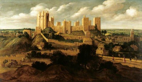 This famous painting by Alexander Keirincx shows how Pontefract castle would have dominated the landscape. Picture credit: wikipedia public domain