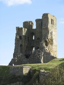 Scarborough Castle, Photo credit Stephen Montgomery, Wikimedia, Creative Commons