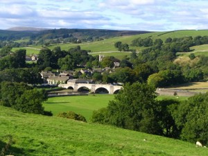 The approach to burnsall