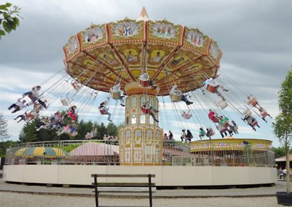 Theme Park ride in Yorkshire, Photo Credit Paul Harrop, Geograph, Creative Commons